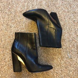 Bcbaxazria leather metal booties